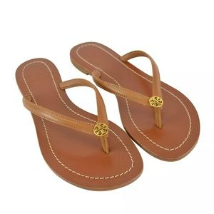 NEW Tory Burch Terra Thong Sandals Royal Tan 9